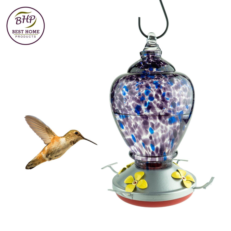Flat Water Bottle >> Autumn Impressions Purple Hummingbird Feeder with Perch ...