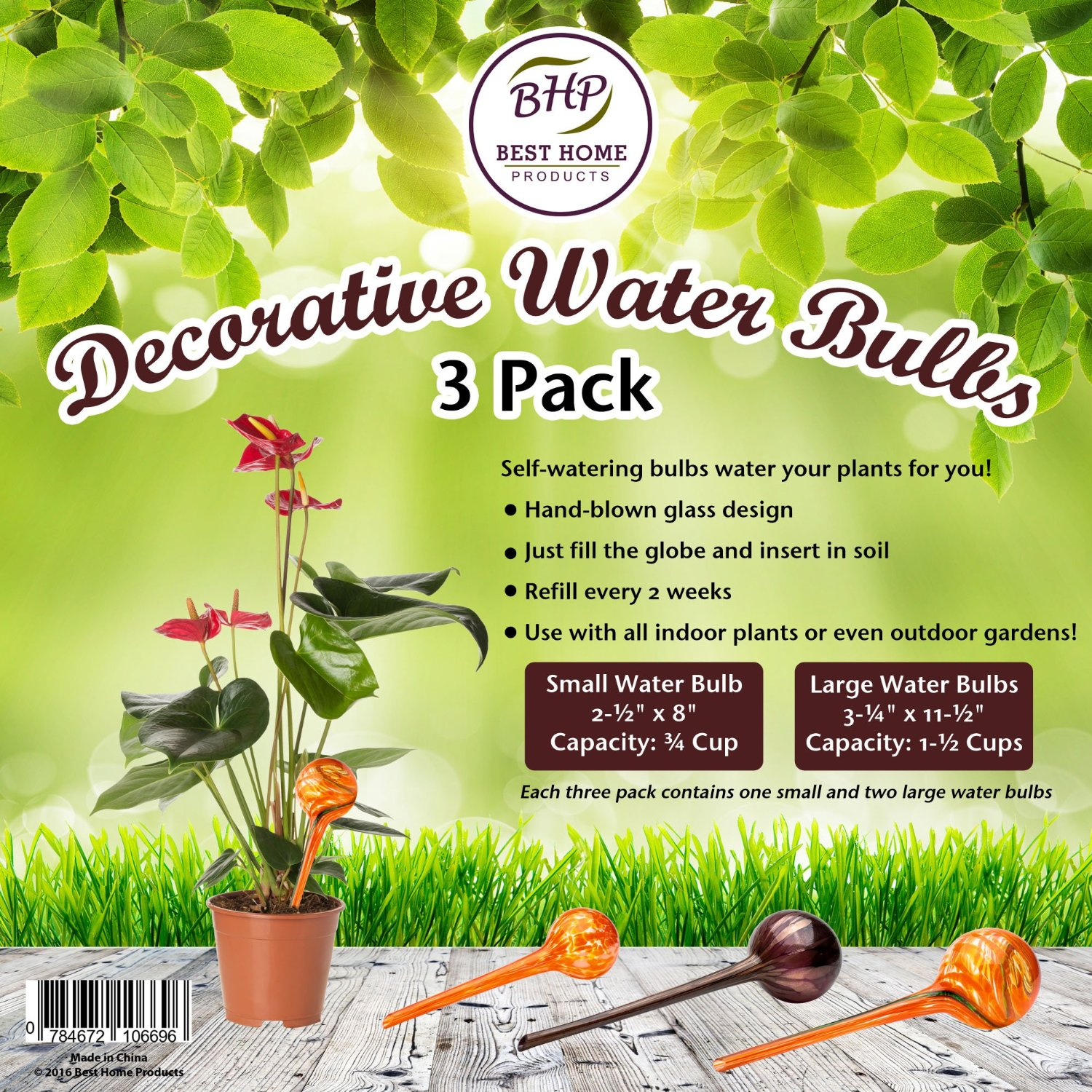 how to set up a self watering system for plants