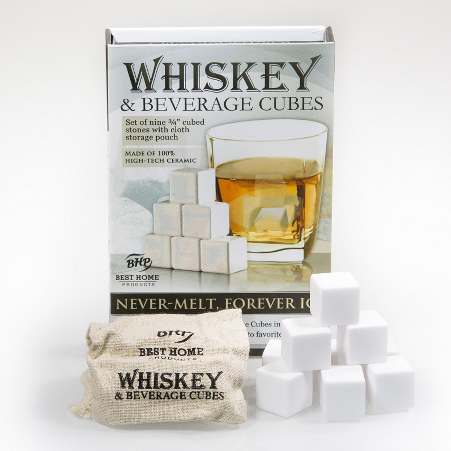 Ceramic Whiskey Stones Set Of 9 With Storage Bag Best