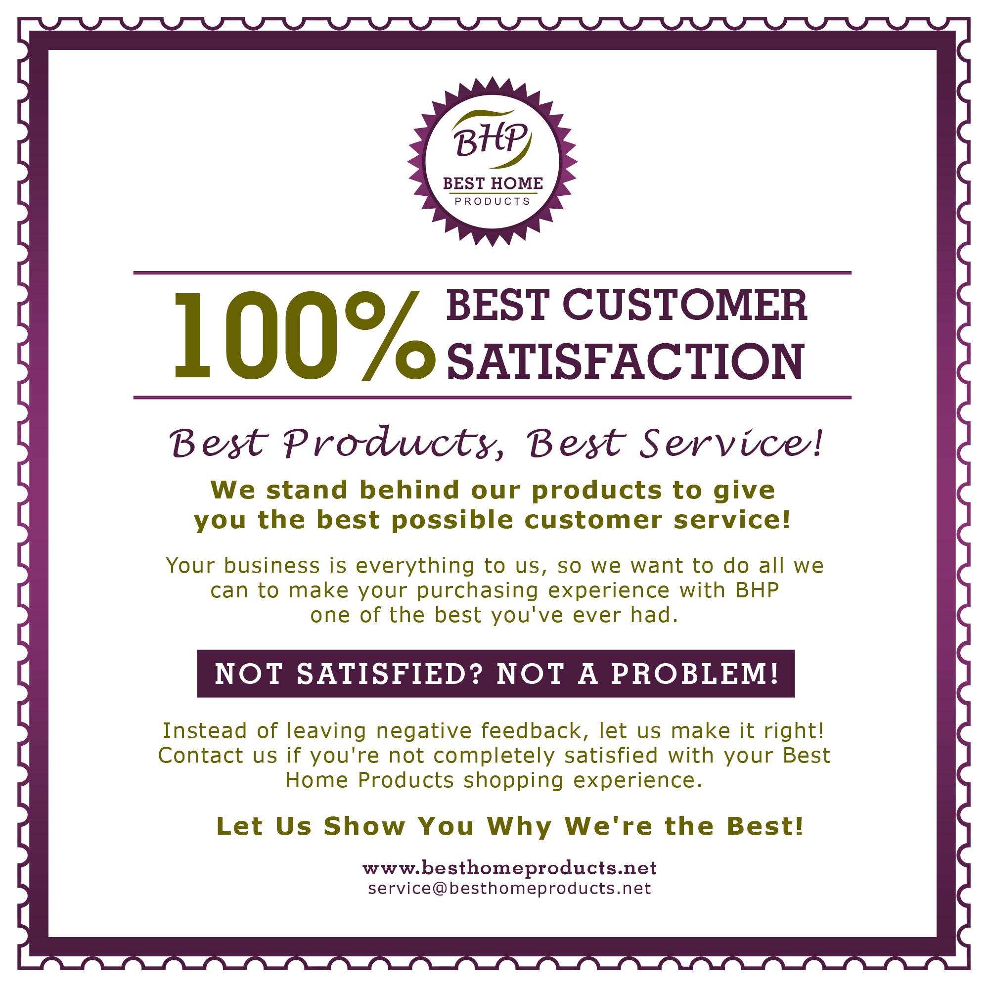 100 House Beautiful Customer Service Testimonials