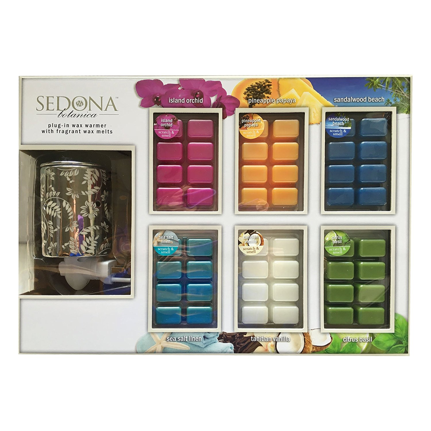 Sedona Botanica Plug In Wax Warmer Amp 6 Packs Of Fragrant